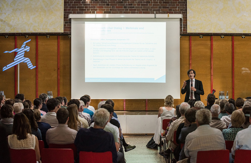 Infoveranstaltung Oberbillwerder, Bild: IBA Hamburg/Johannes Arlt